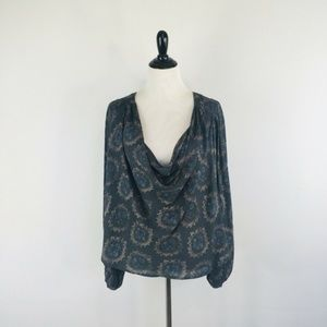 Free People Cowling Around Top Floral Size Medium